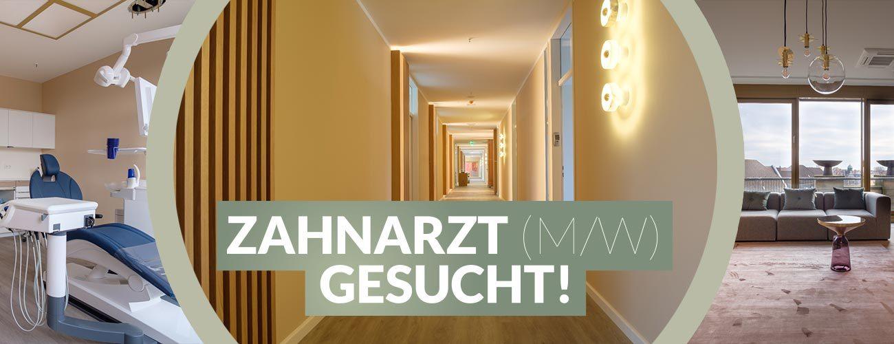Drei Bildausschnitte zeigen die imposante Zahnarztpraxis von Zahnarzt Jürgen Hellmer, Zahnärzte im Schloss Berlin Steglitz.